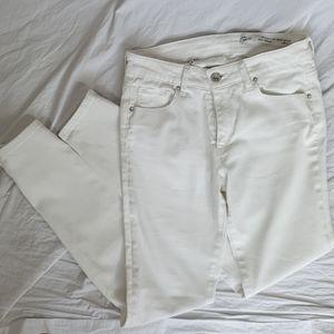 Zara white stretch low rise jeans size 2